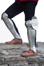 X-Mas Medieval Knight Full Leg Guard Armor Set Medieval Knight Crusade Steel