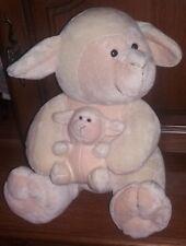 Grosse peluche mouton avec bébé BAMBIA 30 cm en TTBE