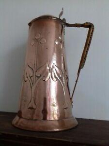 Large Rare Keswick School Copper Jug Signed Joe Sparks 1900 KSIA Arts and Crafts