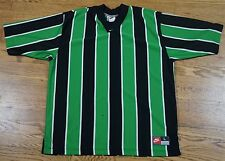 Rare Vintage Nike Soccer Football Jersey Green And Black 90s Large L