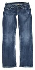 Silver Buckle womens Berkeley straight dark wash low rise jeans 27 x 29 MSRP $99