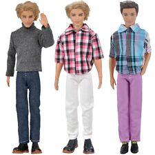 3 Set Puppen Kleidung Casual Wear Kleider Outfit Accessoires für Barbie Ken Doll