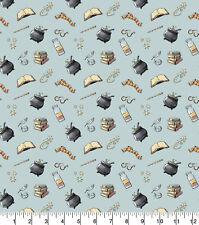 Harry Potter Magical Moments Potions Blue 100% Cotton Fabric FAT QUARTER