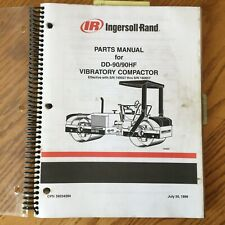 Ingersoll Rand Dd 90 Amphf Parts Manual Book Catalog Vibratory Compactor Roller Ir