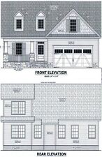 Complete House Plans 1,858 SF Blueprint Plans  (Black Friday Special Price!)
