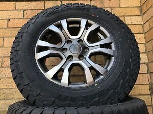Ford Ranger Wildtrak Genuine 18 inch Wheels & 275/65/18 Falken AT3 Tyres New Set