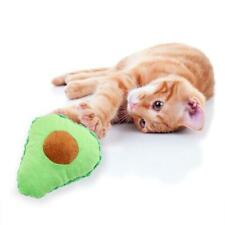 Cute Avocado Stuffed Plush Cat Toys for Pet Chew Bite Interactive Fruit Toy