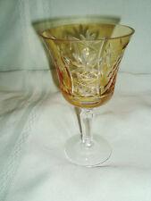 "AJKA Marsala Cased to clear; Crystal 6"" Wine Glass"