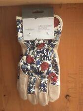 Threshold Split Leather Gardening Glove, New Blue Floral Ladies Gardening Gloves