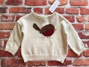 Gymboree Girls Little Bird Sweater Ivory Metallic Gold