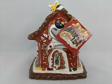 Blue Sky Clayworks CandyCane Bungalow Tea Light House Candy Cane, Goldminc
