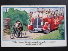 Dennis Mallet: Tuck's Comic Postcard Charabanc Theme OLD MAN ON TRICYCLE