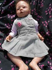 robe salopette pour bébé 1 mois ou poupée reborn baigneurs 50cm