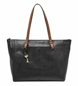 FOSSIL Rachel Tote Shopper Schultertasche Tasche Black Erwachsene Neu
