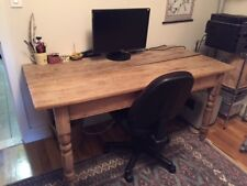 Rustic Dining Table Distressed Solid Wood Farm House Kitchen Weathered Furniture
