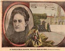 MOSCOU MOSKVA DUCHESSE ELISABETH VEUVE DUC SERGE WIDOW IMAGE 1905 OLD PRINT