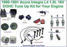 90-91 Acura Integra Complete Tune Up Distr. Cap Rotor Eng Filter Spark Plug Wire