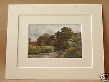 HANKLEY COMMON TILFORD RIVER WEY SURREY VINTAGE DOUBLE MOUNTED PIC 10X8 OVERALL