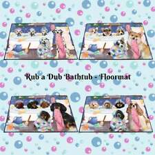 Rub a Dub Dogs Cats in a Tub Floormat, Pet Photo Lovers Doormat Welcome Mat