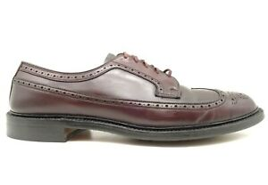 Cordwainer Wright Burgundy Shell Cordovan Long Wingtip Oxfords Shoes Men's 11 C