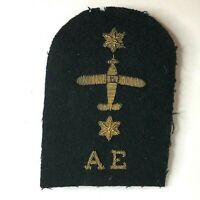 WW2 & Later Royal Navy Fleet Air Arm Aircraft Engineer Bullion wire patch badge