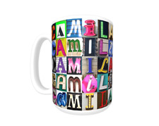 CAMILA Coffee Mug / Cup featuring the name in photos of actual sign letters