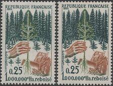 """FRANCE TIMBRE N° 1460 """" REBOISEMENT VARIETE COULEUR ARBRE"""" NEUF xx TTB K137A"""