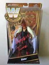 WWE Mattel Elite Legends VADER Autographed Signed Wrestling Figure WCW WWF