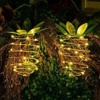 25 LED Solar Pineapple Light Waterproof Hanging Lantern Lamp Xmas Gard LFF