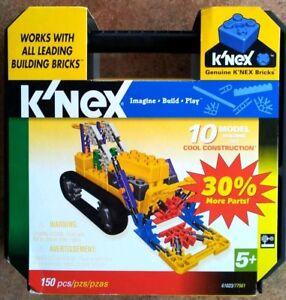 10 MODEL COOL CONSTRUCTION K'NEX SET 61023/77561 150 PIECE SET IN CASE NEW