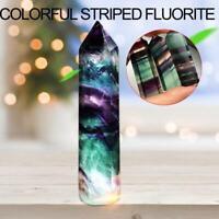 Pierre de guérison de point de baguette en cristal de quartz naturel fluorite