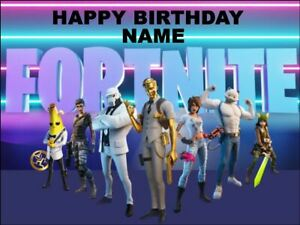 FORTNITE edible cake/cupcake toppers  -Icing or Wafer Paper