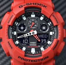 CASIO GSHOCK FLIGHT COCKPIT DESIGN RED & BLACK ANA DIGI WATCH NEW GA100B-4A