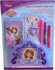 Disney Princess Sofia the First Mini Stationary Case Set Stickers Markers Eraser