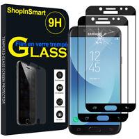 2X Schutzglas Für [ Samsung Galaxy J5 Pro (2017) J530Y] Echtglas Display SCHWARZ