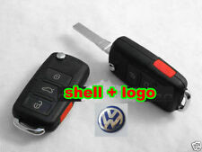 3+1 Remote Key Case Shell VW BEETLE JETTA PASSAT GOLF Rabbit MK4 MK5 R32 GTI,NEW