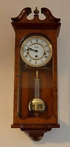 COMITTI OF LONDON WESTMINSTER CHIMING WALL CLOCK EXCELLENT WORKING ORDER