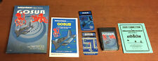 GOSUB for the Intellivision homebrew CIB manual overlays videogame INTV MATTEL
