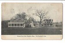 Vintage Postcard Hamilton MA Myopia Hunt President's Club Massachusetts