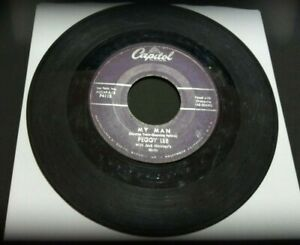"""[1958] Peggy Lee: Alright, Okay, You Win/My Man [VG] 45RPM 7"""" record Pop Capitol"""
