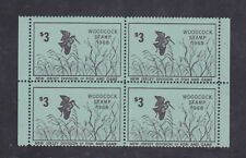 State Hunting/Fishing Revenues - NJ - 1968 Woodcock Stamp ($3) Block/4 - MNH