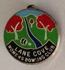 Lane Cove Womens Bowling Club Badge Small Rare Vintage (K3)