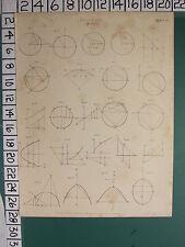 1812 datato antico stampa ~ analisi Locus ~ vari diagrammi