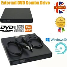 Slim External USB 2.0 DVD RW CD Writer Drive Burner Reader Player for Laptop