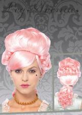 Ladies Baroque Pink Marie Antoinette Powder Wig