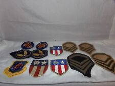 15 OLD MILITARY PATCHES-US ARMY-OTHERS-WW1?WW2?AIR FORCE?NR!