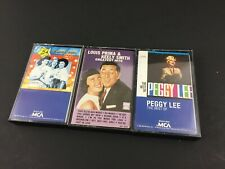 The Andrews Sisters Peggy Lee Keely Smith Vintage Audio Cassette Tape Lot X3