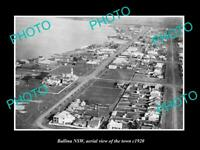 OLD POSTCARD SIZE PHOTO OF BALLINA NSW AERIAL VIEW OF THE TOWN c1920 2