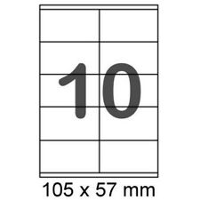 1000 Etiketten 105x57mm Label Format wie Avery Zweckform 3425 Herma 4425 Weiß A4
