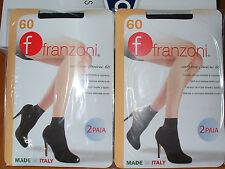 6 paia calzino FRANZONI micro 60 MICRO TOUCH elasticizzato Tg unica colore nero